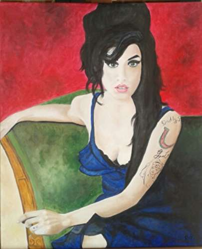Amy Winehouse sur un divan