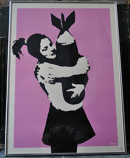 photo_tableau_Banksy BOMB LOVE
