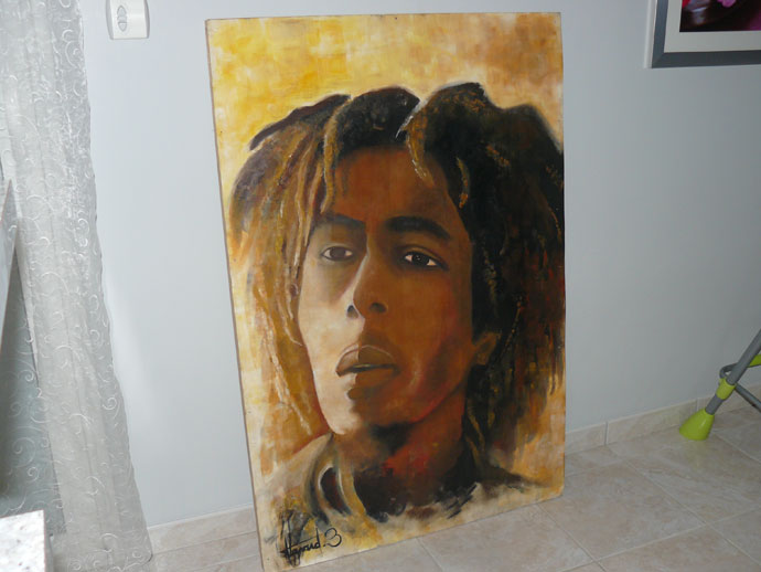 photo_tableau_bob marley signé havard benoit original