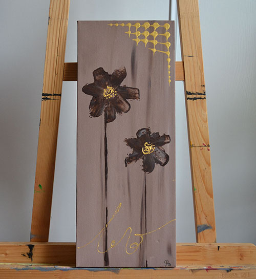 photo_tableau_Brown flower