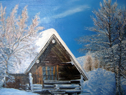 photo_tableau_chalet  en montagne