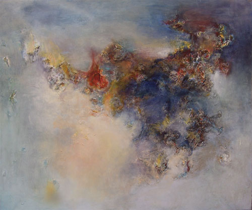 Tableau abstraction lyrique chevauch e fantastique for Abstraction lyrique