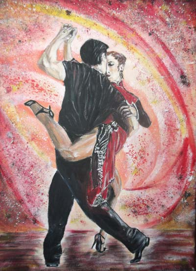 photo_tableau_couple de dnaseurs de tango