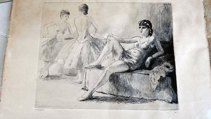 photo_tableau_danseuse au repos