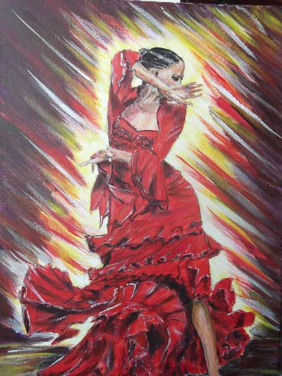 photo_tableau_danseuse de flamenco