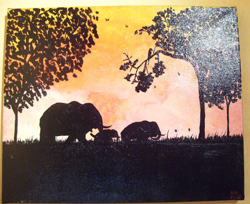 photo_tableau_éléphants
