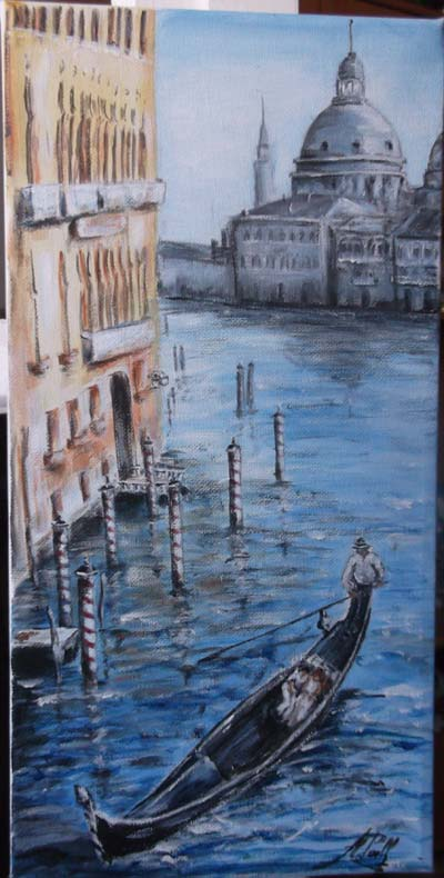 photo_tableau_gondole sur le Grand canal  Venise...