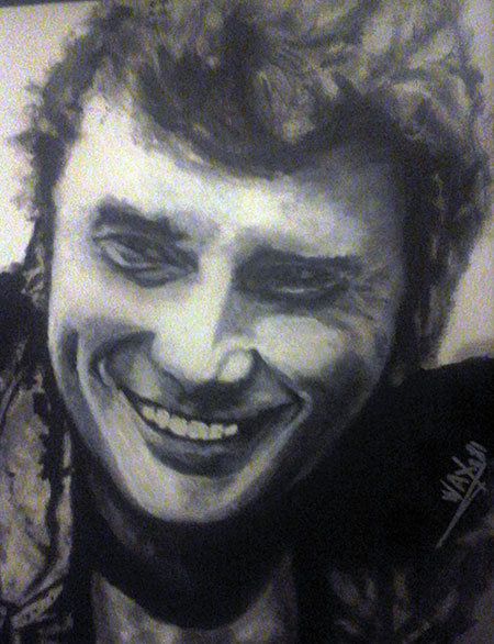 photo_tableau_Johnny Hallyday portrait I