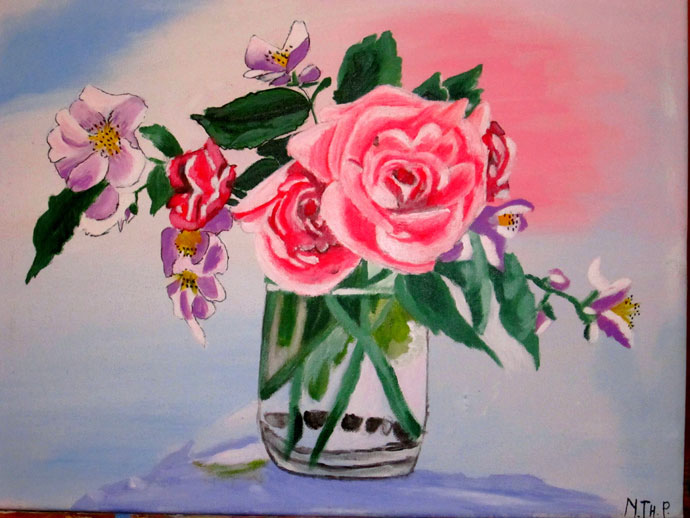 Top Tableau Art figuratif Le bouquet de Roses MM98