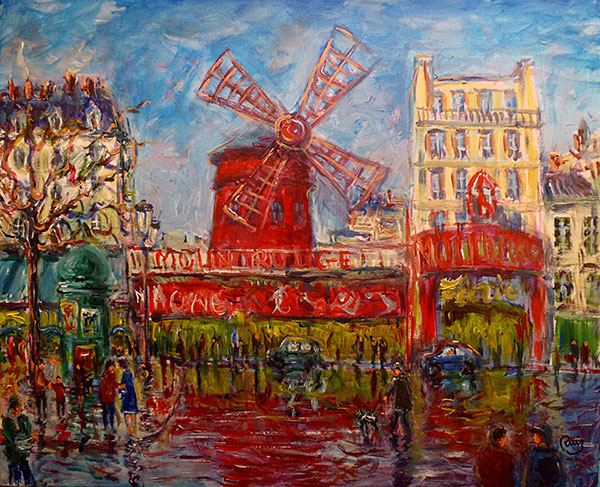 photo_tableau_Montmartre Moulin Rouge PARIS