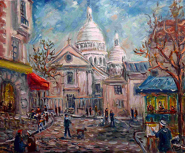 photo_tableau_Montmartre place du Tertre