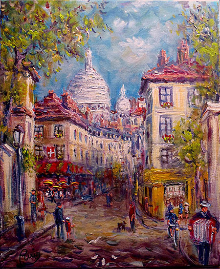 photo_tableau_Montmartre rue Norvins