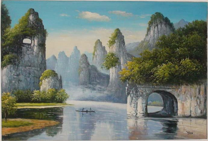 photo_tableau_paysage chinois
