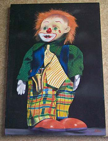 photo_tableau_portrait de clown
