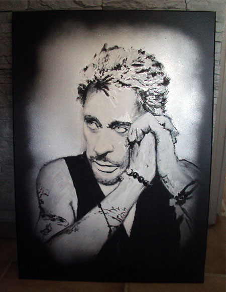 photo_tableau_portrait Johnny Hallyday