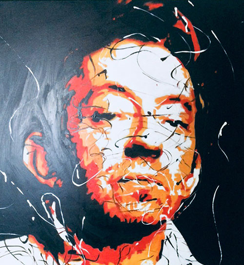 photo_tableau_Portrait Serge Gainsbourg