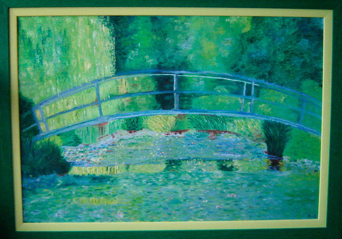 photo_tableau_REPRODUCTION LE PONT DU JARDINS DES NYMPHEAS