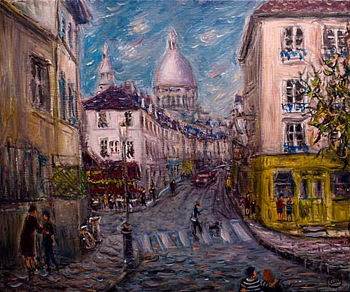 photo_tableau_Rue Norvins à Montmartre