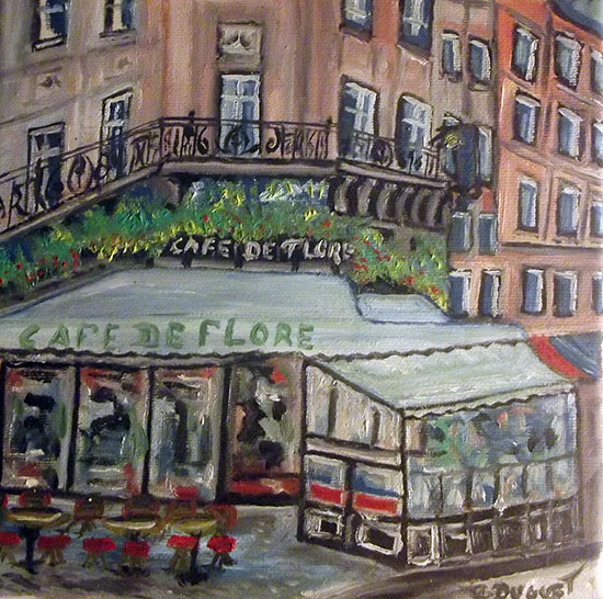 photo_tableau_St germain café de flore Paris