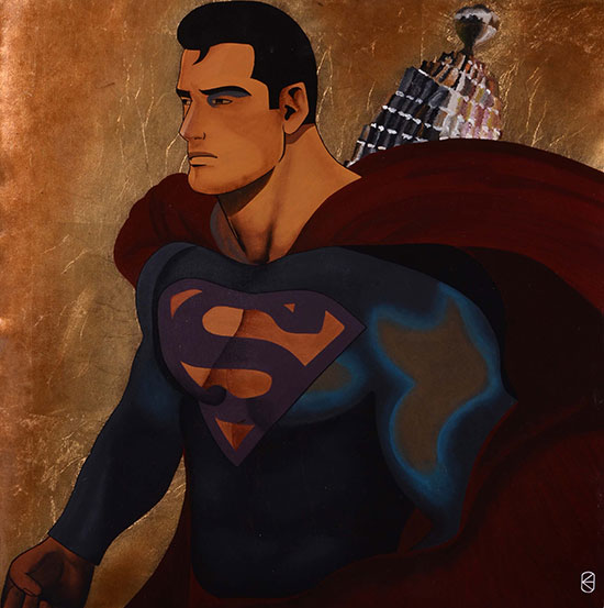 photo_tableau_Superman Pop Art