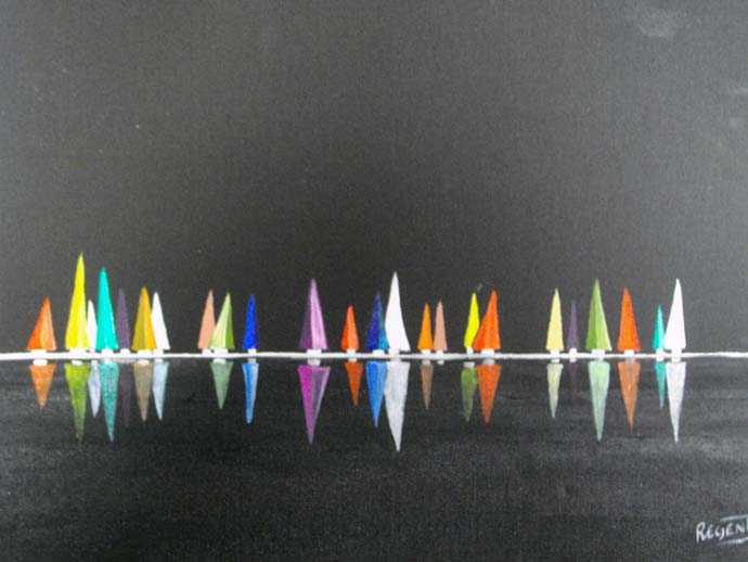 photo_tableau_voiles multicolores